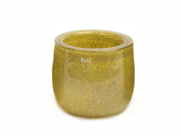 DutZ Schale THICK GLASS, mustard bubbles